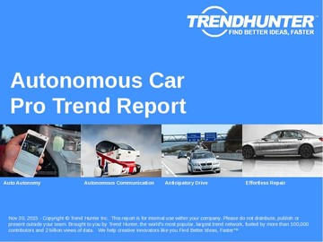 Autonomous Car Trend Report and Autonomous Car Market Research