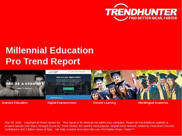 Millennial Education Trend Report and Millennial Education Market Research