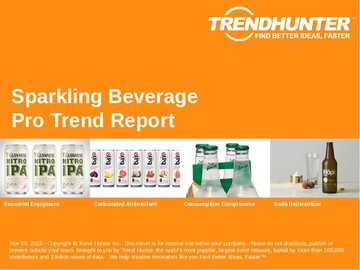 Sparkling Beverage Trend Report and Sparkling Beverage Market Research