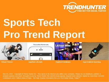 Sports Tech Trend Report and Sports Tech Market Research