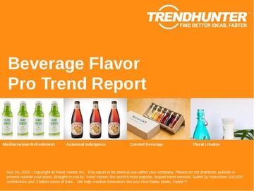 Beverage Flavor Trend Report and Beverage Flavor Market Research