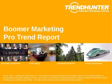 Boomer Marketing Trend Report and Boomer Marketing Market Research