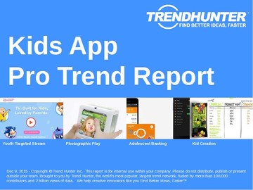 Kids App Trend Report and Kids App Market Research