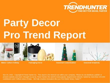 Party Decor Trend Report and Party Decor Market Research