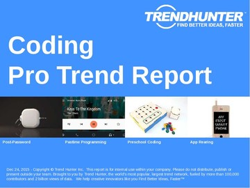 Coding Trend Report and Coding Market Research