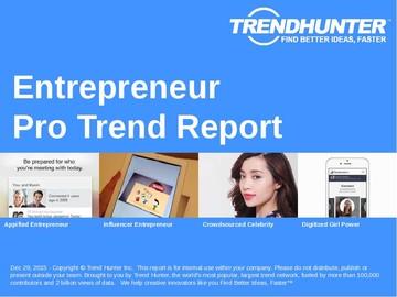 Entrepreneur Trend Report and Entrepreneur Market Research