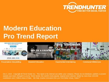 Modern Education Trend Report and Modern Education Market Research
