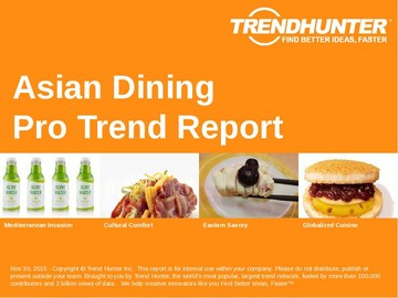 Asian Dining Trend Report and Asian Dining Market Research