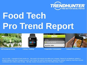 Food Tech Trend Report and Food Tech Market Research