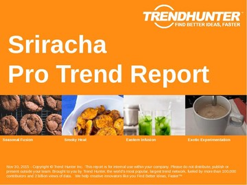 Sriracha Trend Report and Sriracha Market Research