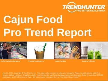 Cajun Food Trend Report and Cajun Food Market Research