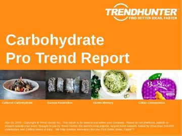 Carbohydrate Trend Report and Carbohydrate Market Research
