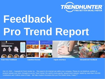 Feedback Trend Report and Feedback Market Research