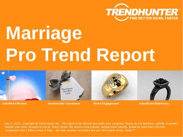 Marriage Trend Report and Marriage Market Research