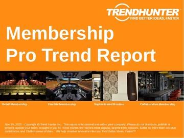 Membership Trend Report and Membership Market Research