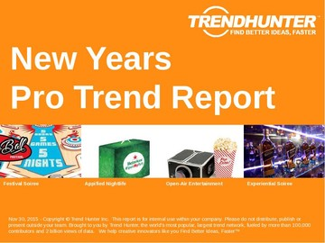 New Years Trend Report and New Years Market Research