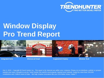 Window Display Trend Report and Window Display Market Research
