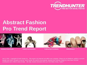 Abstract Fashion Trend Report and Abstract Fashion Market Research