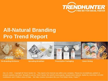 All-Natural Branding Trend Report and All-Natural Branding Market Research