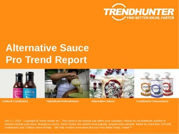 Alternative Sauce Trend Report and Alternative Sauce Market Research
