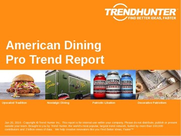 American Dining Trend Report and American Dining Market Research