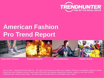 American Fashion Trend Report and American Fashion Market Research