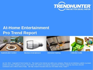 At-Home Entertainment Trend Report and At-Home Entertainment Market Research