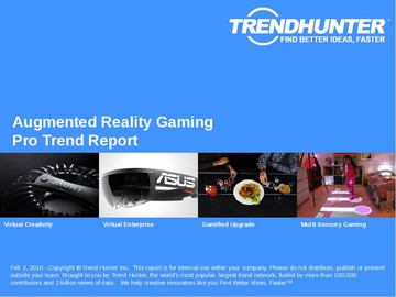 Augmented Reality Gaming Trend Report and Augmented Reality Gaming Market Research