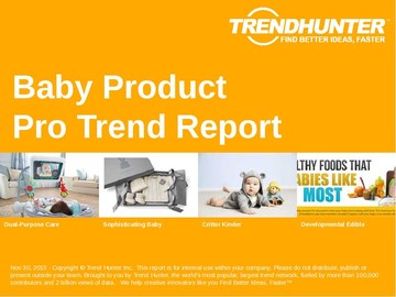 Baby Product Trend Report and Baby Product Market Research