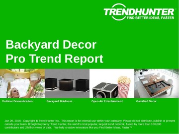 Backyard Decor Trend Report and Backyard Decor Market Research