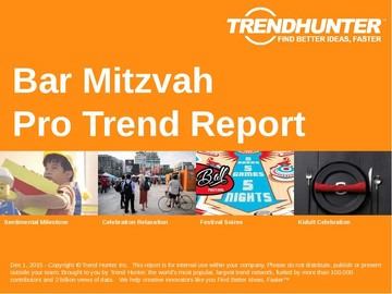 Bar Mitzvah Trend Report and Bar Mitzvah Market Research