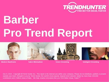 Barber Trend Report and Barber Market Research