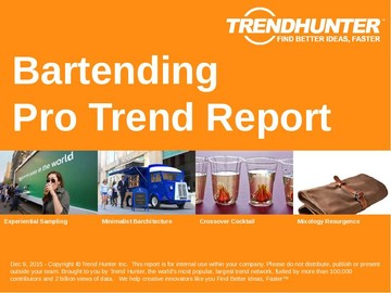 Bartending Trend Report and Bartending Market Research