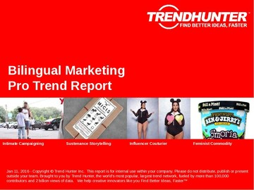 Bilingual Marketing Trend Report and Bilingual Marketing Market Research