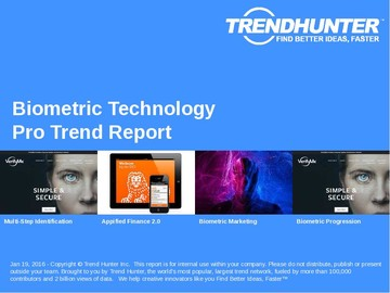Biometric Technology Trend Report and Biometric Technology Market Research