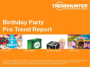 Birthday Party Trend Report and Birthday Party Market Research
