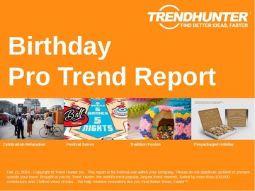 Birthday Trend Report and Birthday Market Research