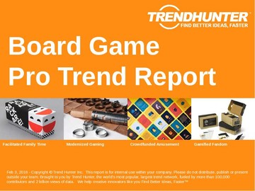 Board Game Trend Report and Board Game Market Research