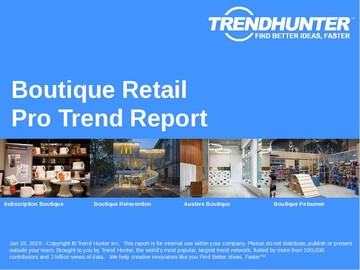 Boutique Retail Trend Report and Boutique Retail Market Research
