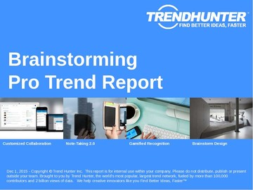 Brainstorming Trend Report and Brainstorming Market Research