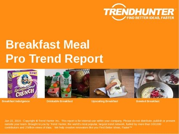 Breakfast Meal Trend Report and Breakfast Meal Market Research