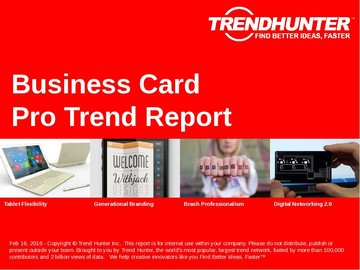 Business Card Trend Report and Business Card Market Research