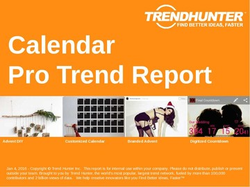 Calendar Trend Report and Calendar Market Research
