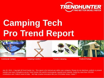 Camping Tech Trend Report and Camping Tech Market Research