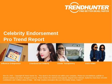 Celebrity Endorsement Trend Report and Celebrity Endorsement Market Research