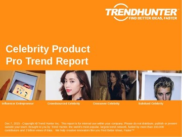 Celebrity Product Trend Report and Celebrity Product Market Research