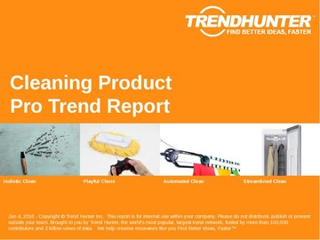 Cleaning Product Trend Report and Cleaning Product Market Research