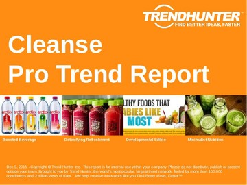 Cleanse Trend Report and Cleanse Market Research