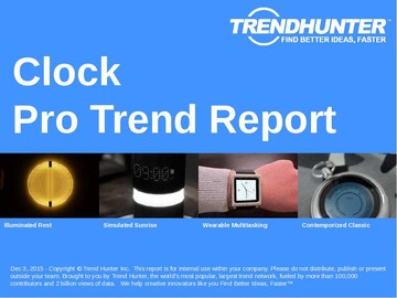 Clock Trend Report and Clock Market Research