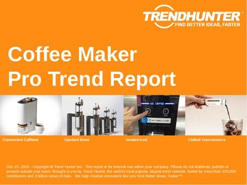 Coffee Maker Trend Report and Coffee Maker Market Research